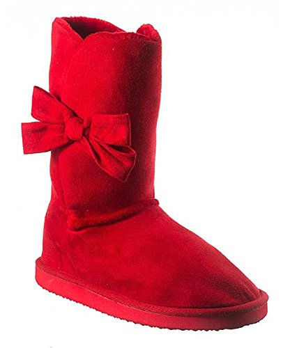 Madness Womans Warm Winter Boots (10, Red) Red Shearling Boots