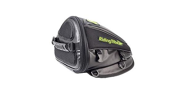 Surla Motorcycle Backrest Saddle Storage Bag Multifunctional Large Capacity Waterproof PU Leather Tank Bag Motorbike Rear Seat Light Tail Bag
