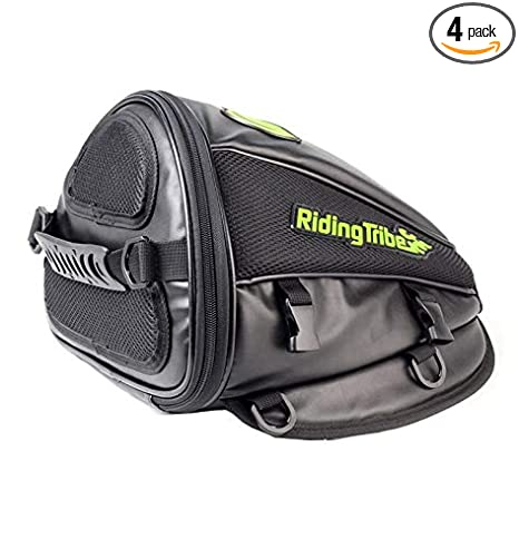 4c1d8f61a Amazon.com: Surla Motorcycle Backrest Saddle Storage Bag Multifunctional  Large Capacity Waterproof PU Leather Tank Bag Motorbike Rear Seat Light Tail  Bag: ...