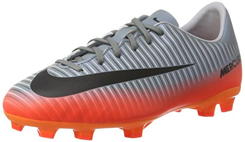 Nike Jr. Mercurial Vapor XI CR FG Soccer Cleats (Sz. 2.5) Cool Grey, Metallic Hematite