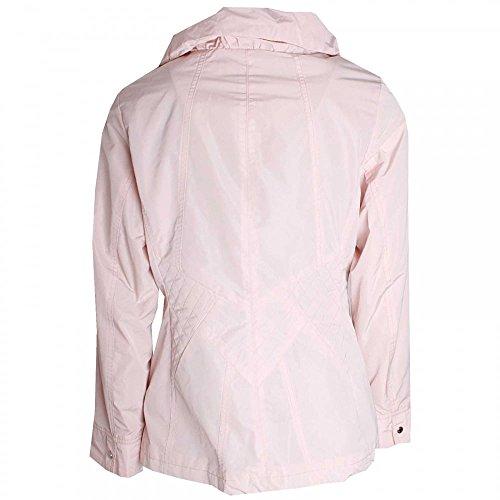 Junge Short Length Zip Up Waterproof Jacket Rose