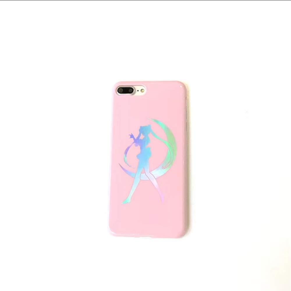 SZNYD Pink Sailor Moon Drop para teléfono láser BLU-Ray Funda ...