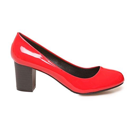La Modeuse - Zapatos de Vestir de Material Sintético Mujer Rojo