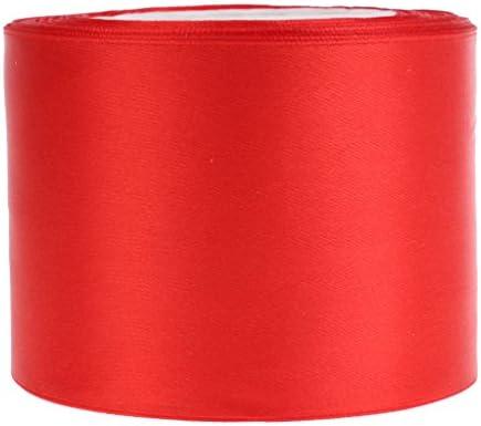 サテンリボン サテン 縫製 ギフトパッキング ウェディング デコレーション 多色選べ - 赤