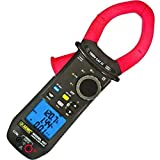 AEMC 407 True RMS Power Clamp-Meter with Recording Capability, 1, 000A AC, 1, 500A DC, Conductors to 48mm, Voltage, Frequency, Resistance, and Power Measurement