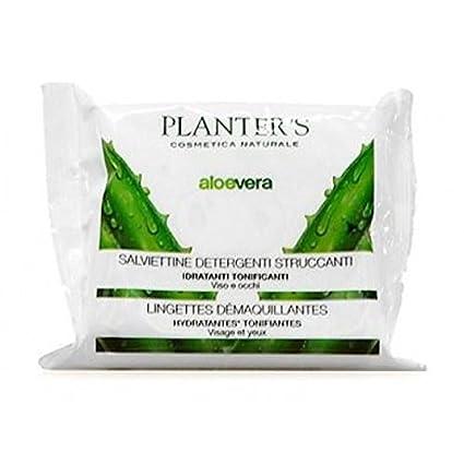 Planters Aloe Vera Toallitas Limpiadoras desmaquillantes