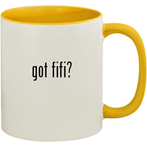 got fifi? - 11oz Ceramic Colored Inside and Handle Coffee Mug Cup, Yellow