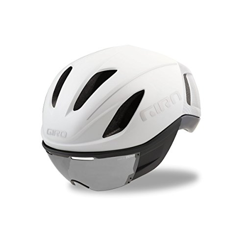 Giro Vanquish MIPS Cycling Helmet - Matte White Silver - Featherweight Eyeglasses