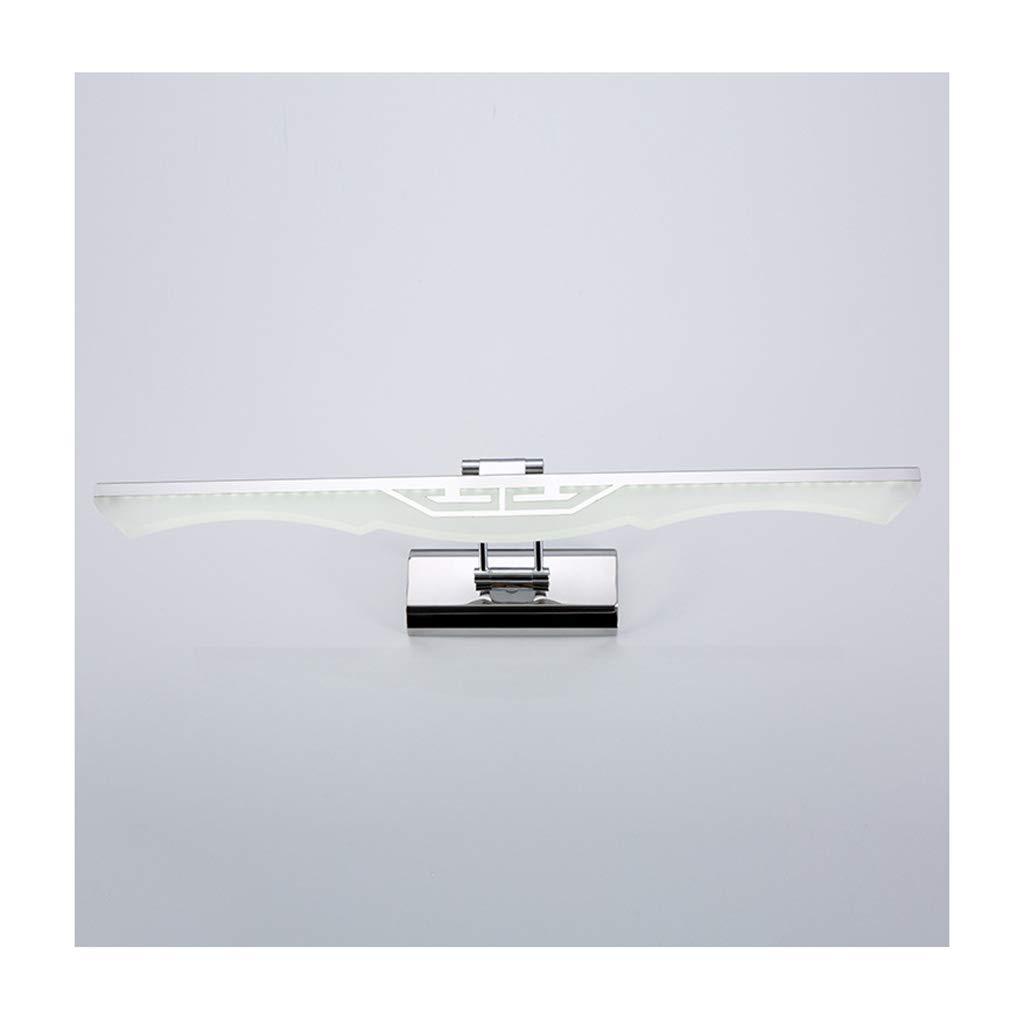&Spiegelleuchte LED-Spiegel Scheinwerfer, Spiegel Schrank Spiegel Acryl Bad feuchtigkeitsBesteändige Make-up Lampe Wandlampe (Farbe   Warmes Licht-10W 530mm)