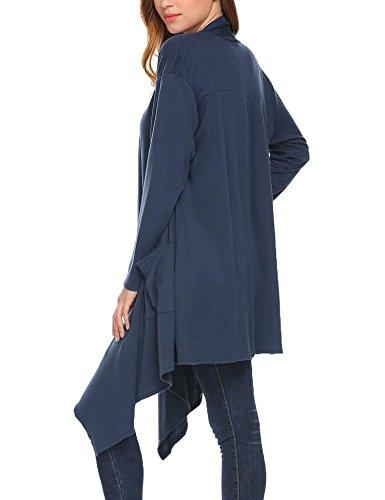 Navy Style Gilet Zeagoo Femme Blue Pocket tYCPwOqxI