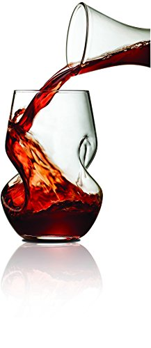 Tourbillon Aerating Stemless 8 oz. Wine Tumbler Set (Set of 2) - Martini Carafe