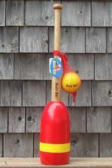 Buoy Bat Outdoor Game Ball and Bat Set - Red/Yellow Buoy made in Maine