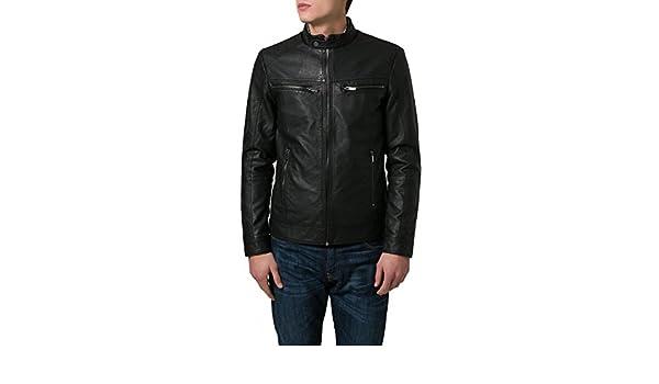 Black, Racer Jacket Laverapelle Mens Genuine Lambskin Leather Jacket 1501517