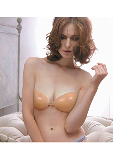 Self Adhesive Silicone Nu Color Backless Strapless Bra C Cup