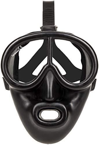 Full Face Black Rubber Dive Mask - Scuba Mask