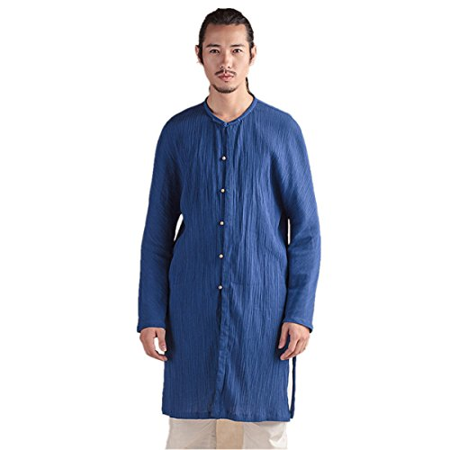 WEISAN Men's Cotton Blends Viscose Fiber Kongfu Shirts Coats Summer by WEISAN