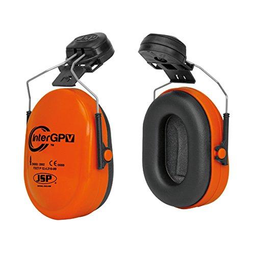 JSP AEK010-001-600 InterGPV Helmet Mounted Ear Defender, Orange JSP Limited