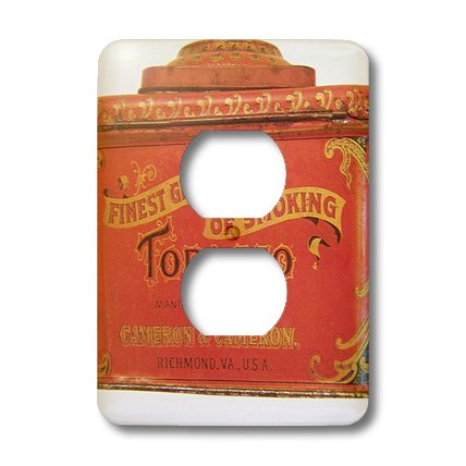 3dRose lsp_21543_6 Olden Tobacco Tin Light Switch Cover