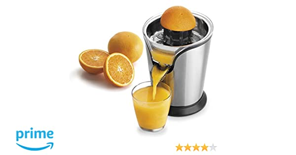 Lacor - 69287 - Exprimidor De Naranjas eléctrico 100 w - Gris: Amazon.es: Hogar