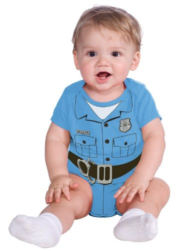 Rubie's Costume My First Halloween Police Officer Onesie Costume, Blue, 6-12 Months