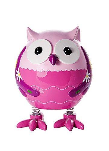 Mousehouse Gifts Pink Owl Dinosaur Money Box Toy Coin Savings Piggy Bank for Kids Children Present Gift Girls (Bank Owl)