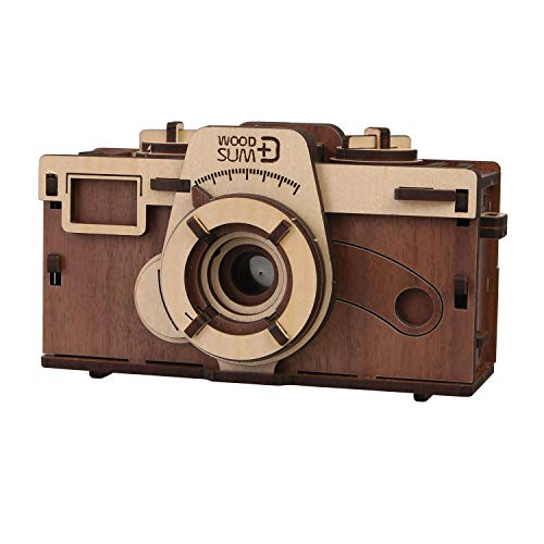 WHAT ON EARTH DIY Working Wood Pinhole Camera – Uses 35mm Film – 6″ x 2.5″ x 3.25″