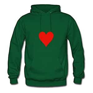 Heart Customized Hoodies Green X-large Green Monahun Print