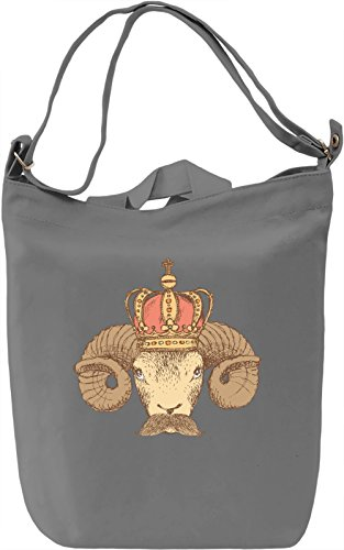 Ram Borsa Giornaliera Canvas Canvas Day Bag| 100% Premium Cotton Canvas| DTG Printing|