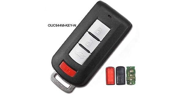 Keyecu Remote Key Fob 315MHz for Mitsubishi Lancer Outlander 2008-2016 OUC644M-KEY-N