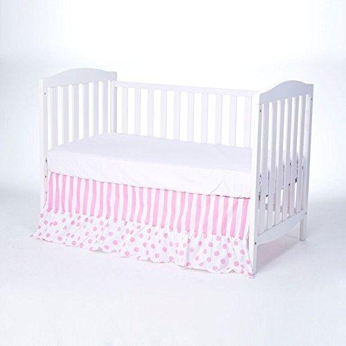Rockingham Road Pink Chevron & Polka Dots Crib Bed Skirt ...