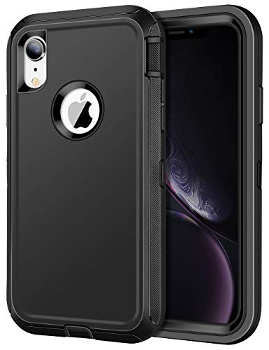 JAKPAK Case for iPhone XR Case Heavy Duty Shockproof Protective iPhone XR Case Scratch-Resistant Protective Shell with Hard PC Bumper+Soft TPU Back Cover for Apple iPhone XR 6.1