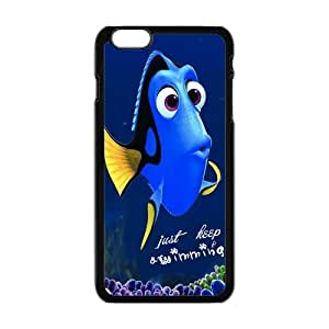 "Danny Store Hardshell Cell Phone Cover Case for New iPhone 6 Plus (5.5""), Just Keep Swimming"