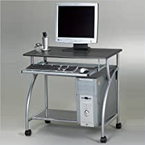 Mayline Eastwinds Argo Mobile Metal Computer Desk - Medium Cherry