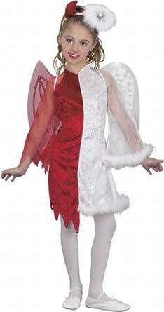 Half Angel Half Devil Kids Costume - Small  sc 1 st  Amazon.com & Amazon.com: Half Angel Half Devil Kids Costume - Small: Clothing