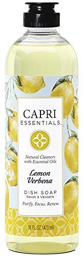 Capri Essentials 832046 16 oz Lemon Verbena Dish Soap