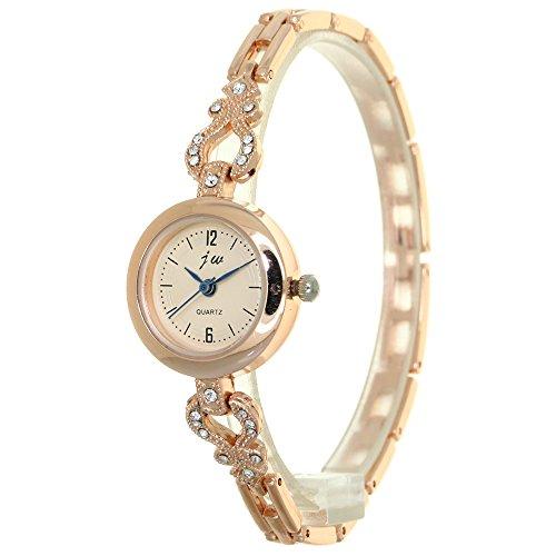 Luxury Crystal Gold Watches Women Rhinestone Mounted Heart Chain Jewelry Watch Female Wristwatch Girl Clock Relogio Feminino
