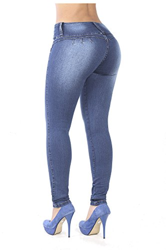 (Curvify 764 Women's Butt-Lifting Skinny Jeans | High-Rise Waist, Brazilian Style Faded Washed 11)