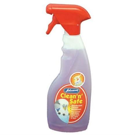 Jaula de pájaros limpio y seguro de Johnson en spray desinfectante ...
