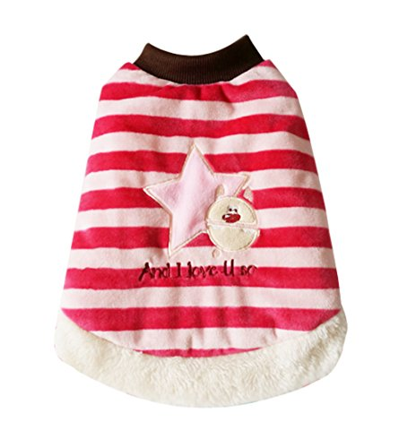Fashion Pet Bone Patch (Cyber Monday Uniquorn Festive Pet Dog Clothes Christmas Clothes Dog Striped Cotton Clothes Fashion Warm Pet)