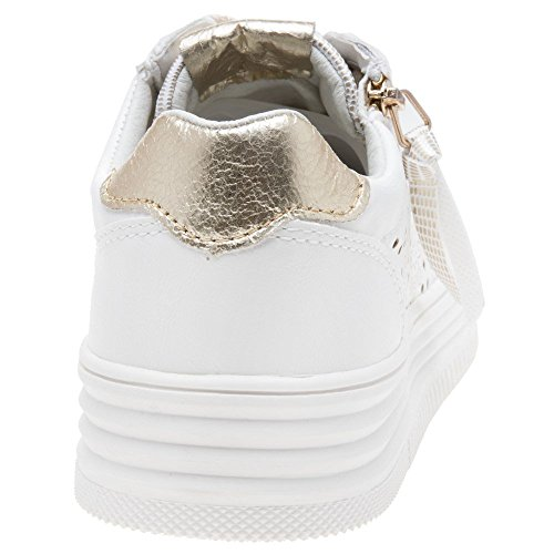 XTI White Basse Donna Ginnastica Scarpe 48030 Bianco da 01xrO06