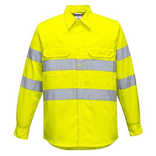 Portwest E044YERS Hi-Vis - Camisa de trabajo, talla S, color amarillo: Amazon.es: Industria, empresas y ciencia