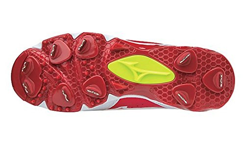Mizuno (MIZD9) Frauen Swift 5 Fastpitch Cleat Softball Schuh Rot-Weiss