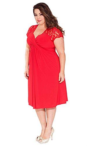 Amazon Igigi Womens Plus Size Teagan Dress In Crimson 1820