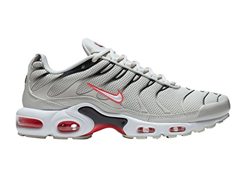 Nike Heren Air Max Plus Synthetische Loopschoenen Licht Bot / Wit / Zwart / Hete Stoot