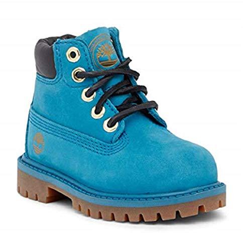 Timberland Kids' 6-inch Premium Waterproof Boots for Toddlers, Wheat Quartz Exotic, 7 M US Big Kid (6 Big Kid US, Mykonos Blue) (Big Kids Boots Wheat Timberland)