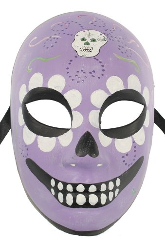 RedSkyTrader Mens Dia de Los Muertos Costume Mask One Size Fits Most -
