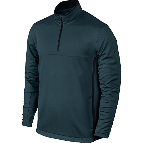Nike Golf CLOSEOUT Men's Therma-FIT Cover-Up Midnight Turquoise/Black 686085-346 (Small)