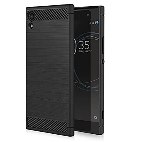 Sony Xperia XA1 Case, MoKo Slim Fit TPU Bumper Case Carbon Fiber Design Lightweight Shockproof Back Cover for Sony Xperia XA1 5 Inch (2017), (Cell Phones Cases Sony Xperia)