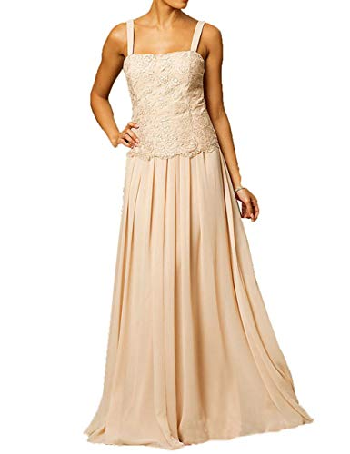 Plus Size Mother of The Groom Dresses for Beach Wedding Long Chiffon  Evening Gown Silver US20W