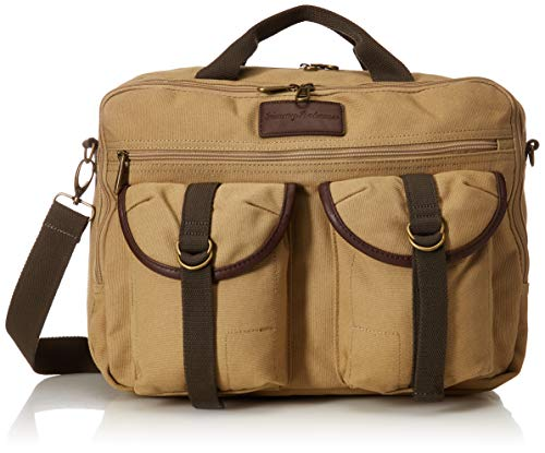 Tommy Bahama Briefcase Messenger Travel Bag, Tan from Tommy Bahama